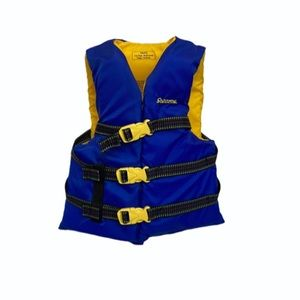 Stearns Boys Youth Blue & Yellow Buckle Life Vest